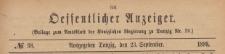 Oeffentlicher Anzeiger : Beilage zum Amts-blatt der Königlichen Regierung zu Danzig, 1899.09.23 nr 38