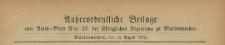 Ausserordentliche Beilage zum Amtsblatt der Königlichen Regierung zu Mariemwerder, 1872.14.08 nr 33