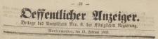 Oeffentlicher Anzeiger : Beilage des Amtsblatt der Königlichen Regierung, 1863.02.11 nr 6