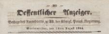 Oeffentlicher Anzeiger : Beilage des Amtsblatt der Königlichen Preussischen Regierung, 1844.08.14 nr 33