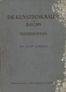 Die Kunstdenkmäler von Niederbayern H.16. Bezirksamt Landshut