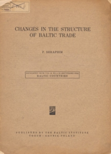 Changes in the structure of Baltic trade