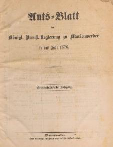 Amts-Blatt der Königlichen Regierung zu Marienwerder für das Jahr, 1876.10.04 nr 40
