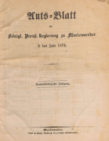 Amts-Blatt der Königlichen Regierung zu Marienwerder für das Jahr, 1876.07.19 nr 29