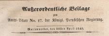 Ausserordentliche Beilage zum Amtsblatt der Königlich Preussischenen Regierung, 1848.04.26 nr 17