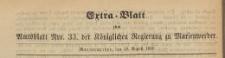 Extra=Blatt zum Amtsblatt der Königlichen Regierung zu Marienwerder für das Jahr, 1869.08.18 nr 33