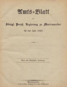 Amts-Blatt der Königlichen Regierung zu Marienwerder für das Jahr, 1869.10.06 nr 40