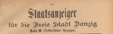 Staatsanzeiger für die Freie Stadt Danzig. Teil 2, Oeffentlicher Anzeiger, 1922.11.04 nr 46