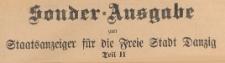 Sonder=Ausgabe Staatsanzeiger für die Freie Stadt Danzig. Teil 2, 1922.12.16 nr 60