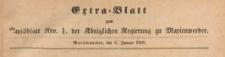 Extra=Blatt zum Amtsblatt der Königlichen Regierung zu Marienwerder für das Jahr, 1885.01.09 nr 1