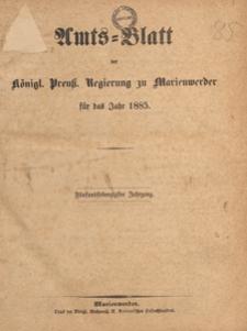 Amts-Blatt der Königlichen Regierung zu Marienwerder für das Jahr, 1885.10.14 nr 41