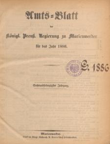 Amts-Blatt der Königlichen Regierung zu Marienwerder für das Jahr, 1886.01.13 nr 2