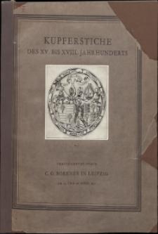 Kupferstiche des XV. bis XVIII. Jahrhundert