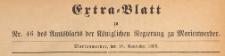 Extra=Blatt des Amtsblatt der Königlichen Regierung zu Marienwerder für das Jahr, 1893.11.16 nr 46
