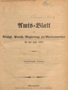 Amts-Blatt der Königlichen Regierung zu Marienwerder für das Jahr, 1893.12.20 nr 51