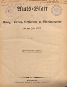 Amts-Blatt der Königlichen Regierung zu Marienwerder für das Jahr, 1892.02.10 nr 6