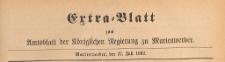 Extra=Blatt des Amtsblatts der Königlichen Regierung zu Marienwerder für das Jahr, 1892.07.27