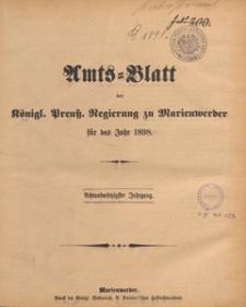 Amts-Blatt der Königlichen Regierung zu Marienwerder für das Jahr, 1898.12.28 nr 52