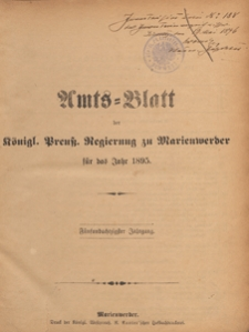 Amts-Blatt der Königlichen Regierung zu Marienwerder für das Jahr, 1895.02.13 nr 7