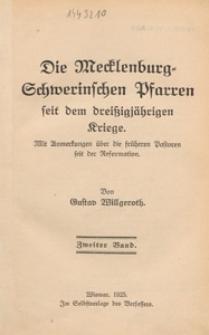 Die Mecklenburg-Schwerinschen Pfarren seit dem dreißigjährigen Kriege : mit Anmerkungen über die früheren Pastoren seit der Reformation. Bd. 2