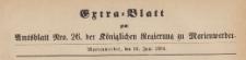 Extra=Blatt zum Amtsblatt der Königlichen Regierung zu Marienwerder für das Jahr, 1884.06.25 nr 26