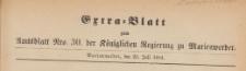 Extra=Blatt zum Amtsblatt der Königlichen Regierung zu Marienwerder für das Jahr, 1884.07.28 nr 30