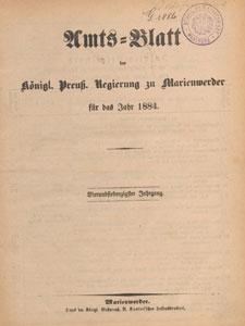 Amts-Blatt der Königlichen Regierung zu Marienwerder für das Jahr, 1884.12.24 nr 52