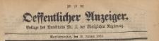 Oeffentlicher Anzeiger : Beilage des Amtsblatt der Königlichen Regierung, 1883.01.10 nr 2