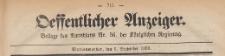 Oeffentlicher Anzeiger : Beilage des Amtsblatt der Königlichen Regierung, 1883.09.05 nr 36