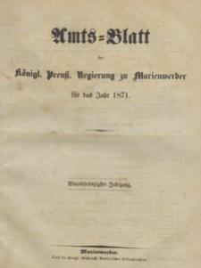 Amts-Blatt der Königlichen Regierung zu Marienwerder für das Jahr, 1871.12.06 nr 49