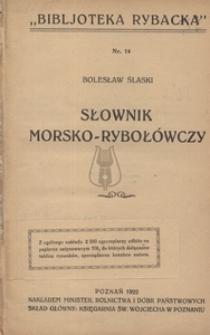 Słownik morsko - rybołówczy