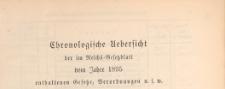 Reichsgesetzblatt : herausgegeben im Reichsministerium des Innern, 1895, Chronologische_Ueberficht