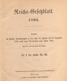 Reichsgesetzblatt : herausgegeben im Reichsministerium des Innern, 1895 nr 42