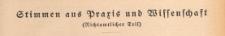 Stimmen aus Praxis und Wissenschaft (Richtamtlicher Amt), 1937 H. 12