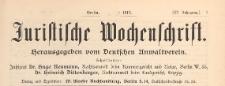 Juristische Wochenschrift : Organ des Deutschen Anwaltvereins, 1913.04.15 nr 8