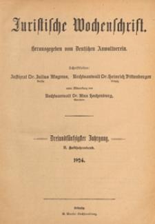 Juristische Wochenschrift : Organ des Deutschen Anwaltvereins, 1924.07.15 nr 14