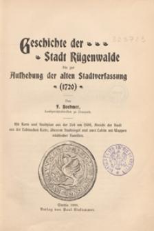 Geschichte der Stadt Rügenwalde bis zur Aufhebung der alten Stadtverfassung (1720)