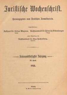 Juristische Wochenschrift : Organ des Deutschen Anwaltvereins, 1928.10.13 H. 41