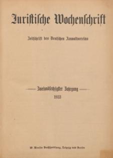 Juristische Wochenschrift : Organ des Deutschen Anwaltvereins, 1933.07.08/15 H. 27/28
