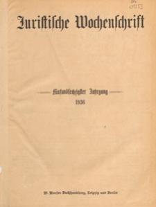 Juristische Wochenschrift : Organ des Deutschen Anwaltvereins, 1936.05.30 H. 22
