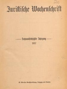 Juristische Wochenschrift : Organ des Deutschen Anwaltvereins, 1937.07.17/24 H. 29/30