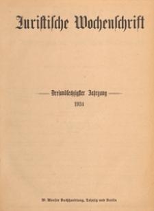 Juristische Wochenschrift : Organ des Deutschen Anwaltvereins, 1934.03.24/31 H. 12/13