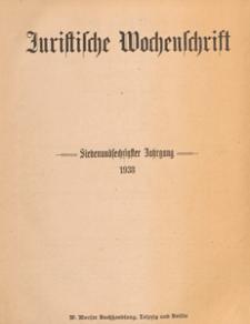 Juristische Wochenschrift : Organ des Deutschen Anwaltvereins, 1938.12.03 H. 49