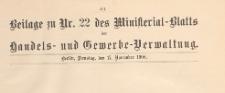 Beilage zu Nr. 22 des Ministerialblatt der Handels- und Gewerbe-Verwaltung, 1908.11.17