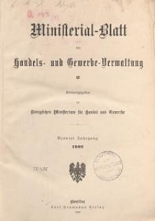 Ministerialblatt der Handels- und Gewerbe-Verwaltung. Herausgegeben Königliches Ministerium für Handel und Gewerbe, 1909.01.23 nr 2