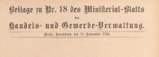 Beilage zu Nr. 18 des Ministerialblatt der Handels- und Gewerbe-Verwaltung, 1926.09.11