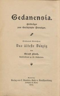 Das älteste Danzig