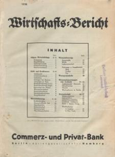 Wirtschafts-Bericht der Kommerz- und Privat-Bank Aktiengesellschaft Berlin-Hamburg, 1938.11 nr 11