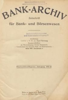 Bank-Archiv. Zeitschrift für Bank- und Börsenwesen, 1936.07.01 nr 19