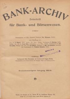 Bank-Archiv. Zeitschrift für Bank- und Börsenwesen, 1924.04.01 nr 13